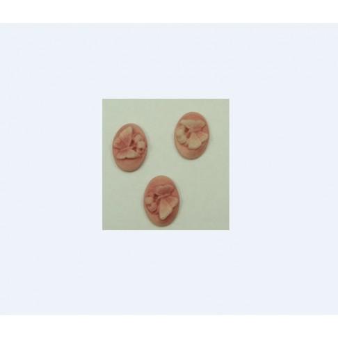KAM-7815 Akrilinė kamėja 18x13mm, rožinė