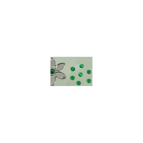 KABAS-5090 Katės akis, 6mm, žalios sp.