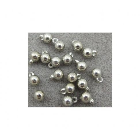 7-PA8558 Burbuliukas-pakabukas, metalizuotas, 11x8mm