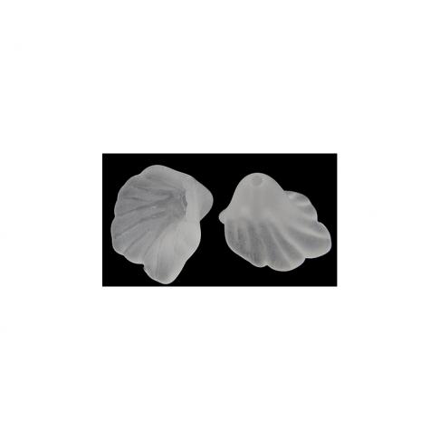 GEL-3215 Akrilinė gėlytė, balta, 12mm
