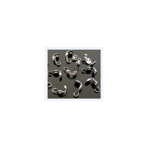 7-8198 mazgelių paslepėjas su kilpute, burbuliukas 5mm diametro, tvirtas, sidabro sp.
