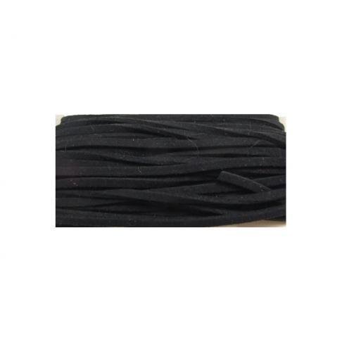 JUOST-M15 Žomša, dirbt., 3mm, juoda, kaina už 50 cm