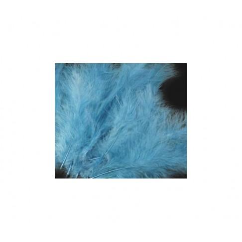 PLUNKS-Z2 Stručio plunksna-pūkas, 10-14cm, už 4-5 vnt., žydra