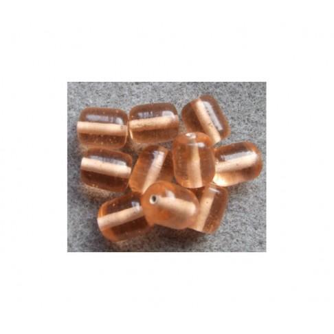 LAMPW-10152 Karoliukas 15x10mm, Šviesi persikų sp.