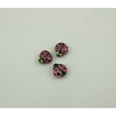 11-5973 Porcelianinė Boružėlė, purpurinės sp., 16x15mm