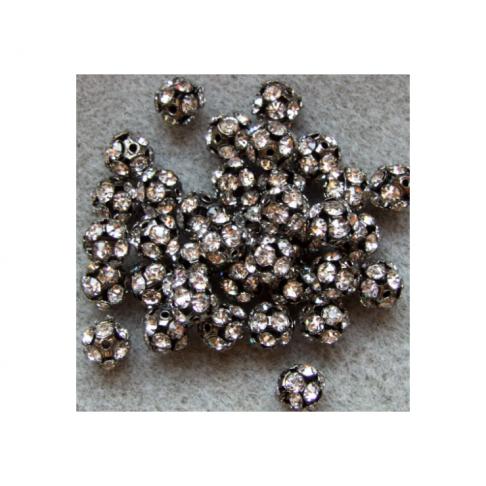 JUOD-KKR10M Karoliukas su kristalo akutėmis, 10mm