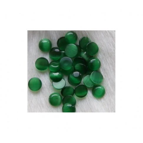 """AK-ST5336 Kabošonas, """"katės akis"""", 7mm, tamsi žalia"""