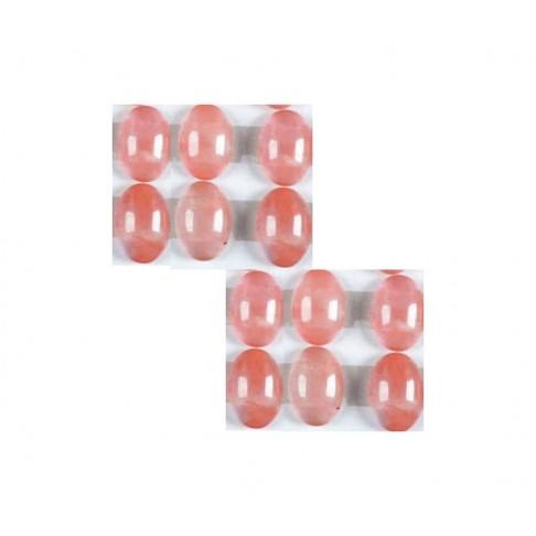KAB-RK1858 Vyšninio skaidraus kvarco kanošonas, 18x13mm