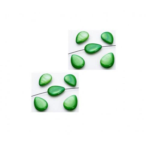 KRIAUK-9405 Kriauklės lašelis, 18x13mm, Žalias