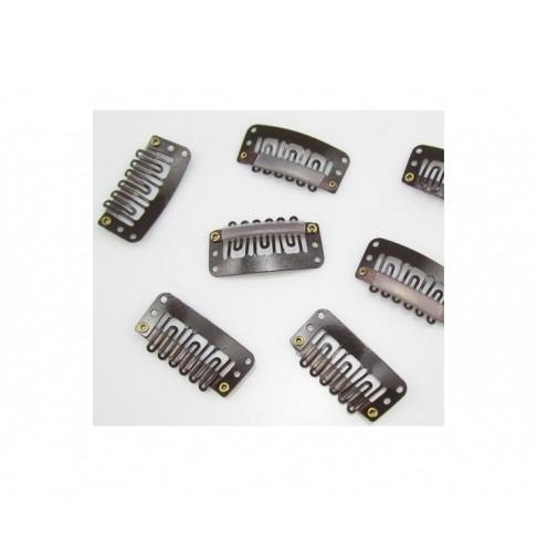 PK-RSN302 Ruošinys plaukų segtukams, 30x15mm, rudas