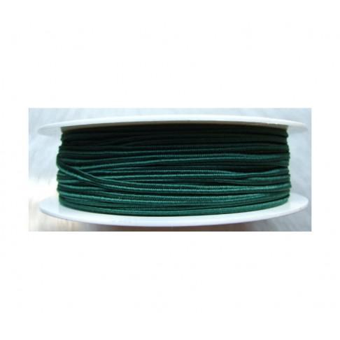 """Sutažo juostelė-0333 """"Pega"""" 3mm, viskozė, už 50cm, tamsi žalia"""