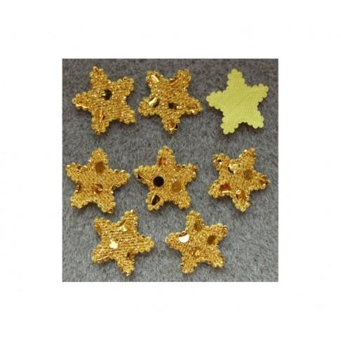 APL-33091 Aplikacija, žvaigždutė, geltona, 19x19mm