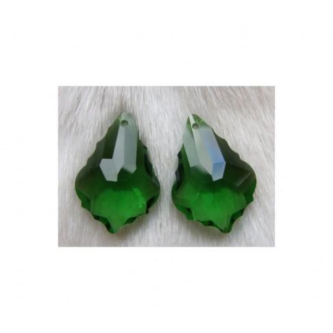 KR-PKB678 Kristalo pakabukas 28x19, žalias