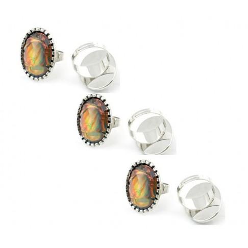 ZD-01622 Žiedas, dydis apie 18, akutė 28x21mm