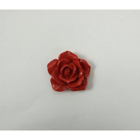 2-SKR01 Koralo pakabukas, (sintetinio), rožė, raudona 38mm