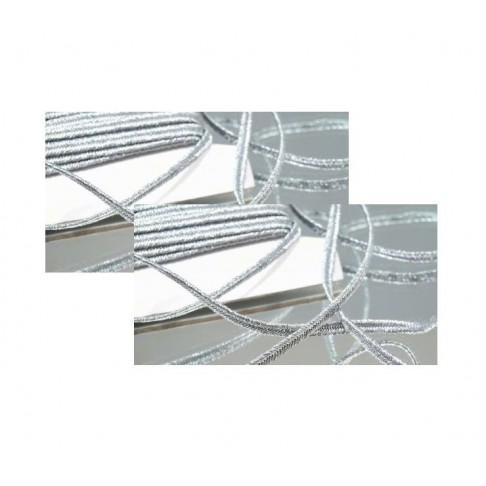 Sutažo juostelė-004277   3mm, metalic sidabro sp, už 50cm, (Canada)