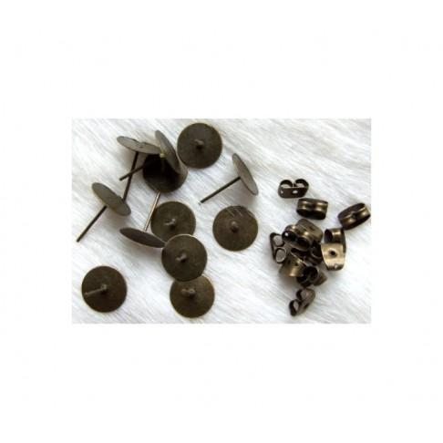 ZAL-9510 Vinutės auskarams, 10mm plokštelė, už porą
