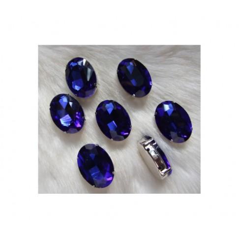 K-25811  Intarpas-detalė, 25x18mm, kristalo tamsi mėlyna
