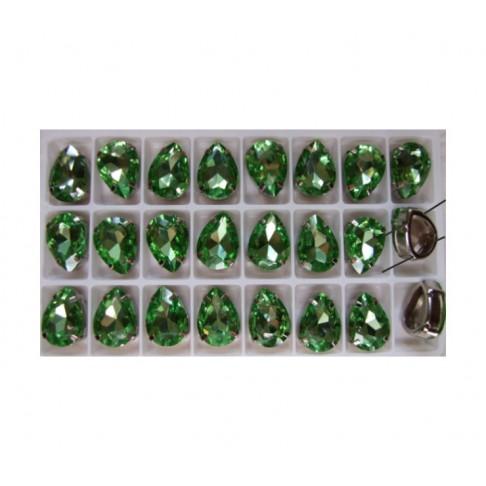 K-25815 Intarpas-detalė, 18x13mm, kristalo žalsva sp.