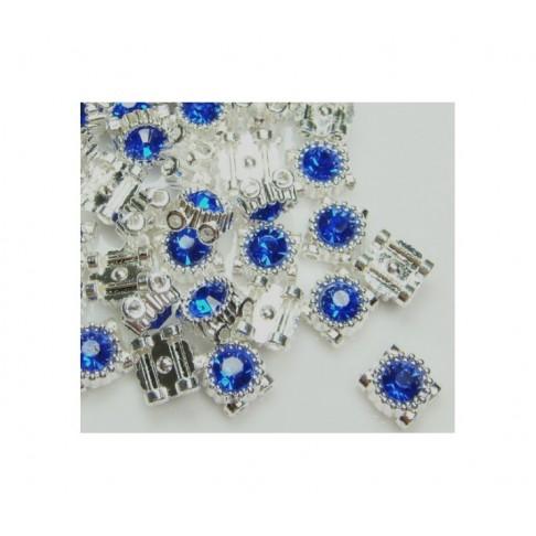 SID-PSK108 Paskirstytojas 2 eilučių, su tamsiai mėlyna kristalo akute