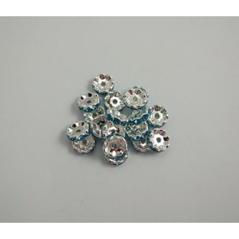 I-06620 Intarpas melsvom(akvamarino) sp. kristalo akutėm, 10mm