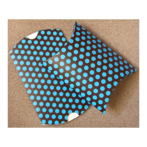D-16755 Dėžutė išlankstoma,sulankstyta 11x9x3mm., Mėlyna