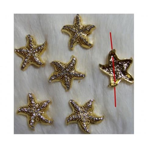 """AUK-PR55  Karoliukas-intarpas, su kristalo akutėm,  """" Jūros žvaigždutė"""" , 25 mm"""
