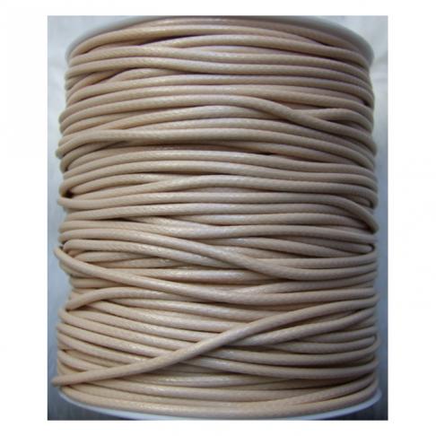 V-17328 Vaškuota virvutė, 2mm, NUDE , kaina už 50 cm