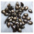 "ZAL-86358 Metalizuotas pakabukas, ""Lašelis"", 12x8.5mm"