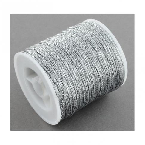 VIR-MET1 Virvutė metalizuota, 1mm, SIDABRO sp.