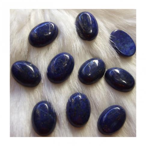 KAB-31814  Lazurito (Lapis Lazuli) kabošonas, apie 18x13mm
