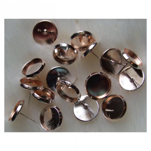 AUK-14121  Ruošinys auskarams, tinka kabošonai apie 10mm, už porą
