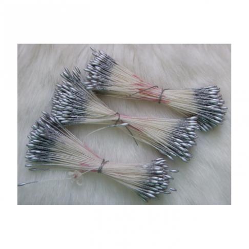 G-GE103 Gėlių kuokeliai, už 10 vielučių, SIDABRO sp.