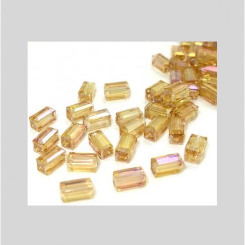 KR-K8443  Kristalo karoliukas,  8x4mm,  AUKSO AB