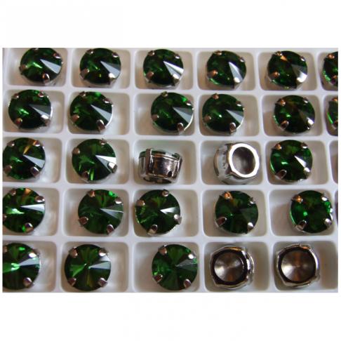 D-A14151 Intarpas-detalė, 10mm, kristalo žalia