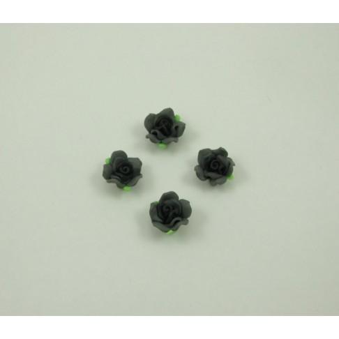 F-1310 Fimo gėlytė, juodai-pilka, apie 13mm