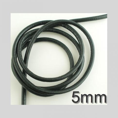 OD-JS5655  Nat., odos virvutė, 5mm, kaina už 15 cm(nekarpyta) JUODA