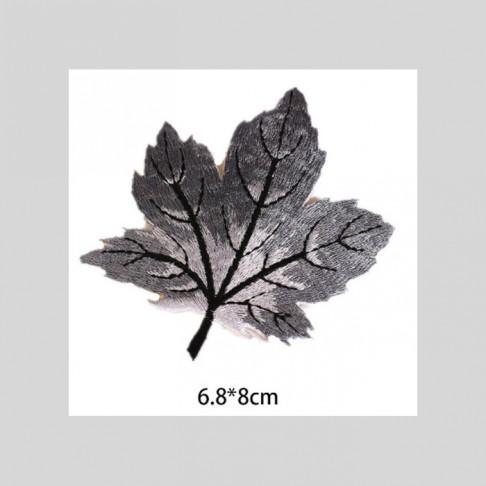 """APL-P115  Aplikacija """"Pilkas lapelis"""", 6.8x8 cm, klijuojamas"""