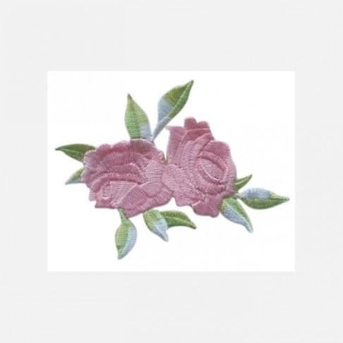 """APL-R3  Aplikacija """"Rožės"""", klijuojama, 8x6.5 cm,  RAUSVA"""