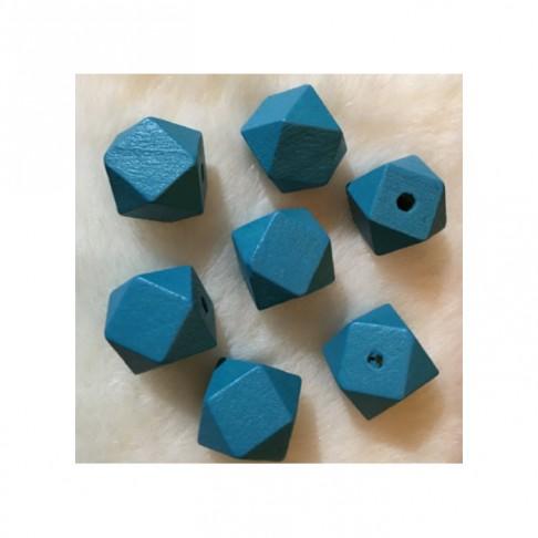 MED-K2 Mediniai karoliukai, apie 25mm, 7 vnt., MĖLYNI