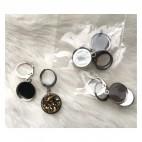 7-NP27991  Nerūdyančio plieno ruošinys auskarams, tinka apie 12mm kabošonai, už porą