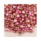 PER-61016  Perliukai BE SKYLUTĖS, 4,6,8,10mm, apie 200 vnt.