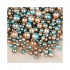 PER-61015  Perliukai BE SKYLUTĖS, 4,6,8,10mm, apie 200 vnt.