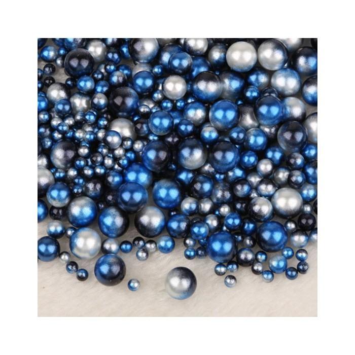 PER-61017  Perliukai BE SKYLUTĖS, 4,6,8,10mm, apie 200 vnt.