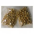 SID-MIX46811   Metalizuotų karoliukų MIX, 4-6-8-10mm, aukso sp. apie 280 vnt.