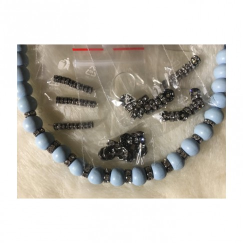 JUOD-99010  Intarpas-karoliukas, rondelė, su kristalo akutėm, 4mm, už 10 vnt.