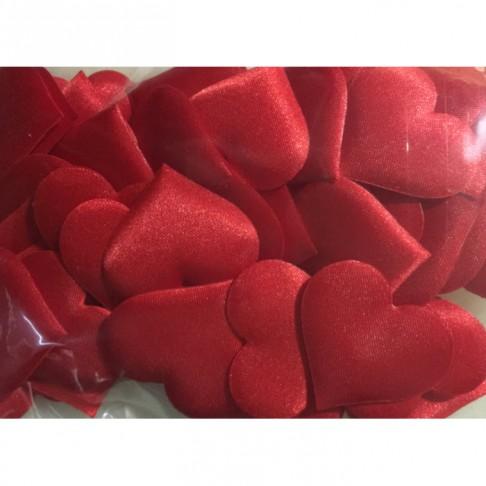 """DK-PR2S """"Širdelės"""" dekoracijom, 3.5cm, 45 vnt., RAUDONOS"""
