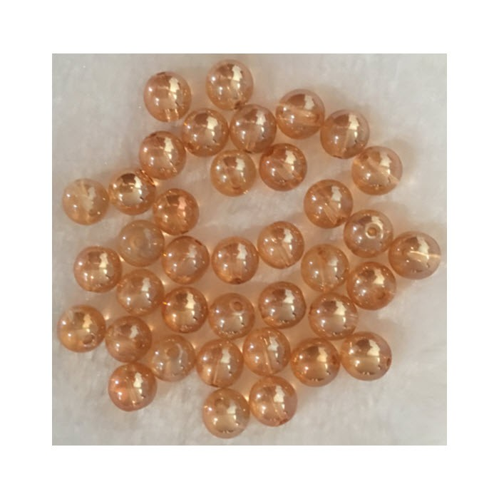 KR-K10017 Kristalo kroliukas, 10mm, ŠAMPANO sp.