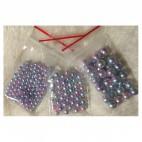 P-33661  Akriliniai perliukai, 3 gramai, 4mm, ŠVIESŪS