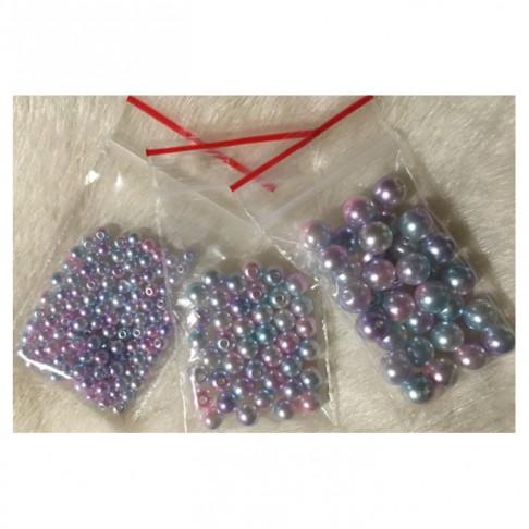P-33663  Akriliniai perliukai, 8 gramai  (30 vnt.),  8mm, ŠVIESŪS